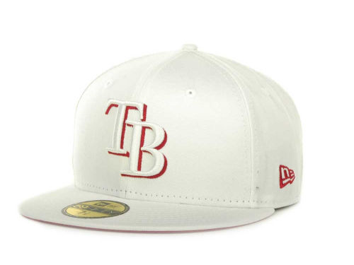 Tampa Bay Rays New Era MLB White On Color 59FIFTY Cap Hats