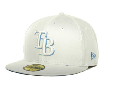 Tampa Bay Rays MLB White On Color 59FIFTY Cap Hats