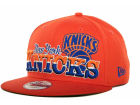 New York Knicks New Era NBA Hardwood Classics Splitier 9FIFTY Snapback Cap Adjustable Hats