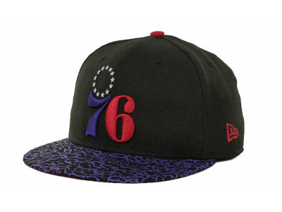 Philadelphia 76ers NBA Hardwood Classics Sneak Up 59FIFTY Cap Hats