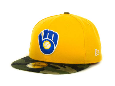 Milwaukee Brewers MLB Team Camo 59FIFTY Cap Hats