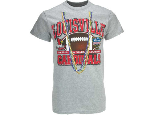 Louisville Cardinals 2013 Sugar Bowl Beads T-Shirt