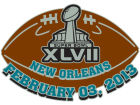 Super Bowl XLVII NFL Super Bowl XLVII Game Ball Pin Pins, Magnets & Keychains