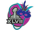 Super Bowl XLVII NFL Super Bowl XLVII Glitter Mask Pin Pins, Magnets & Keychains