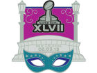 Super Bowl XLVII NFL Super Bowl XLVII Rhinestone Mask Pin Pins, Magnets & Keychains