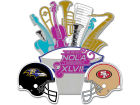 Super Bowl XLVII Wincraft NFL Super Bowl XLVII Dueling Jazz Pin Pins, Magnets & Keychains