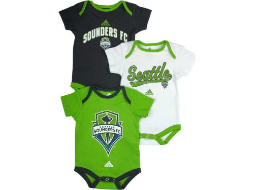 Seattle Sounders FC adidas MLS Newborn 3 Piece Creeper Set
