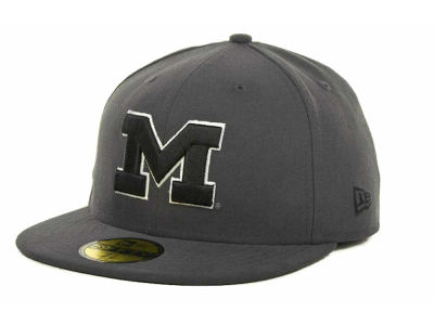Michigan Wolverines NCAA Gray, Black & White 59FIFTY Cap Hats