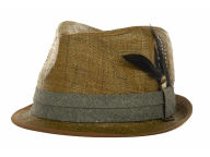Ben Sherman Solid Straw Trilby Hats
