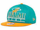 Miami Heat New Era NBA Hardwood Classics Stack Punch Snap 9FIFTY Cap Snapback Hats
