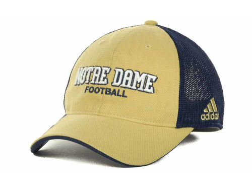 Notre Dame Fighting Irish adidas Notre Dame Player Mesh Back Slope Cap Hats