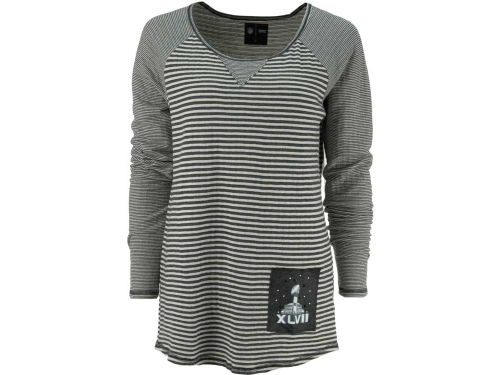 Super Bowl XLVII NFL Super Bowl XLVII Striped Crew Neck Sweater