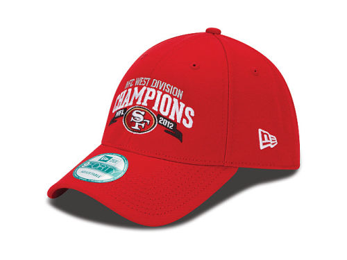San Francisco 49ers New Era NFL 2012 Division Champs 9FORTY Cap Hats