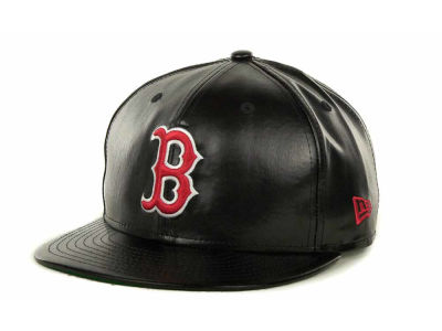 Boston Red Sox MLB Fauxe Snapback 9FIFTY Cap Hats