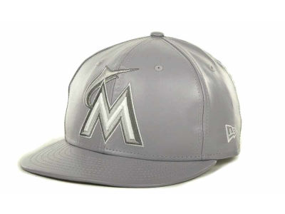 Miami Marlins MLB Fauxe Snapback 9FIFTY Cap Hats