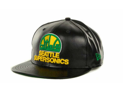 Seattle SuperSonics NBA Fauxe Snapback 9FIFTY Cap Hats