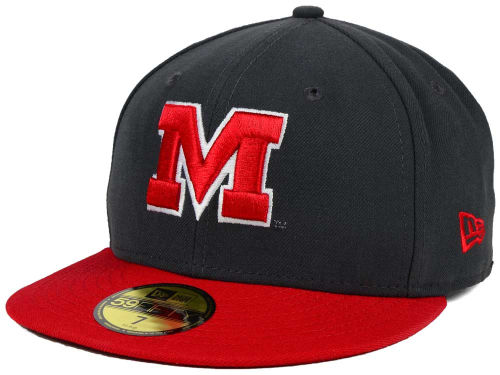Maryland Terrapins New Era NCAA 2 Tone Graphite and Team Color 59FIFTY Cap Hats