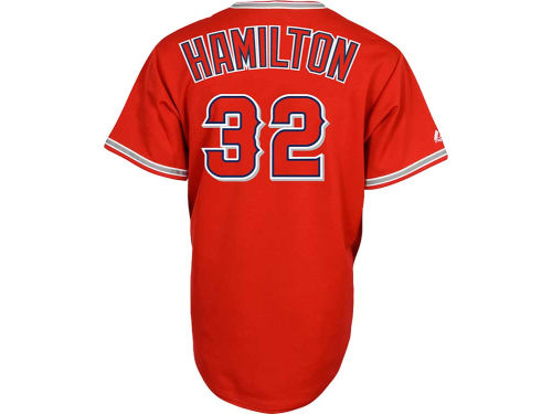 Los Angeles Angels of Anaheim Josh Hamilton Majestic MLB Player Replica Jersey