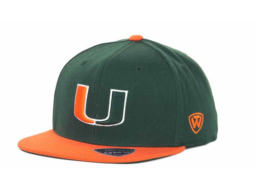 Miami Hurricanes Top of the World NCAA Slam One-Fit Cap Hats