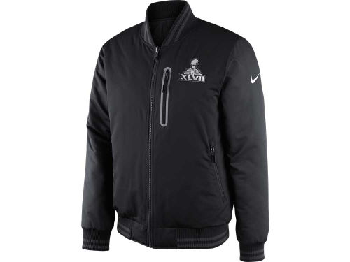 Super Bowl XLVII Nike NFL Super Bowl XLVII Padded Reversible Destroyer Jacket