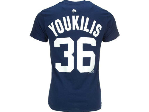 New York Yankees Youkilis Majestic MLB Player T-Shirt