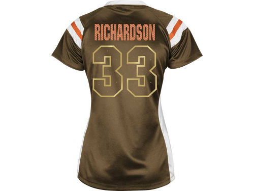 Cleveland Browns Trent Richardson VF Licensed Sports Group NFL Womens Draft Him III Top