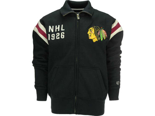 Chicago Blackhawks Old Time Hockey NHL Full Zip NHL Sweatshirt