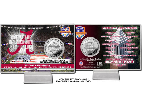 Alabama Crimson Tide Highland Mint 2013 BCS NC Coin Card