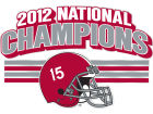 Alabama Crimson Tide 2013 BCS NC Decal STOCKDALE Auto Accessories