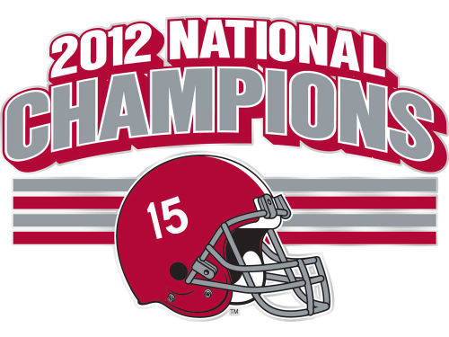 Alabama Crimson Tide 2013 BCS NC Decal STOCKDALE