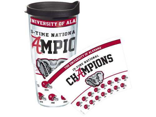 Alabama Crimson Tide Tervis Tumbler 2013 BCS NC 15x Champ 24oz