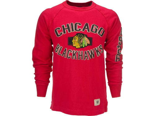 Chicago Blackhawks Red Old Time Hockey Brent Crew Neck Sweatshirt