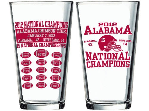 Alabama Crimson Tide 2013 BCS NC 16oz Summary Pint