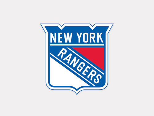 New York Rangers Wincraft 4x4 Die Cut Decal Color