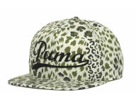 Puma Olive Leopard Flatbill Cap Adjustable Hats