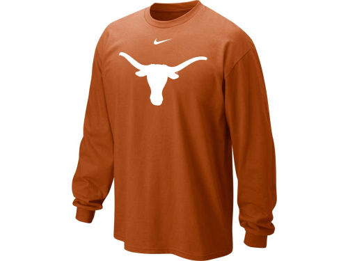 Texas Longhorns Nike NCAA Long Sleeve Classic Logo T-Shirt