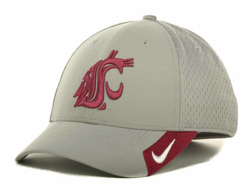 Washington State Cougars Nike NCAA Grayout Mesh Swooshflex Cap Hats