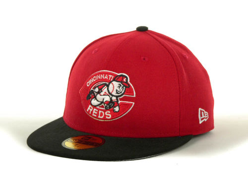 Cincinnati Reds New Era MLB Side Patch 59FIFTY Cap Hats