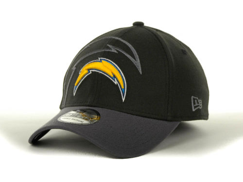 San Diego Chargers New Era NFL Black Gray All Pro 39THIRTY Hats