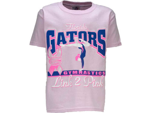 Florida Gators Girls Gymnastics Link 2 Pink T-Shirt