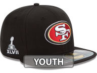 New Era NFL Youth Super Bowl XLVII On Field Patch 59FIFTY Cap Fitted Hats