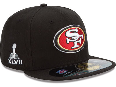 San Francisco 49ers NFL Youth Super Bowl XLVII On Field Patch 59FIFTY Cap Hats