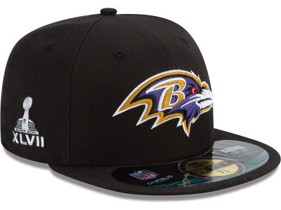 Baltimore Ravens NFL Youth Super Bowl XLVII On Field Patch 59FIFTY Cap Hats