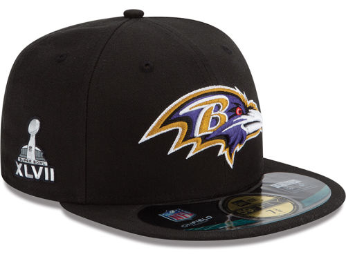 Baltimore Ravens New Era NFL Youth Super Bowl XLVII On Field Patch 59FIFTY Cap Hats