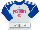 Detroit Pistons adidas NBA Kids Team Arch Long Sleeve Crew T-Shirt T-Shirts