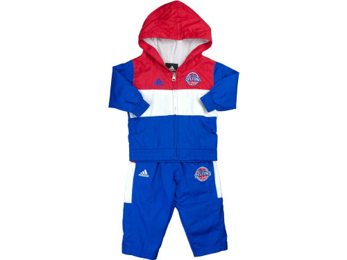Detroit Pistons adidas NBA Toddler Hood and Pant Set