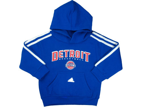 Detroit Pistons adidas NBA Toddler 3-Stripe Hoodie