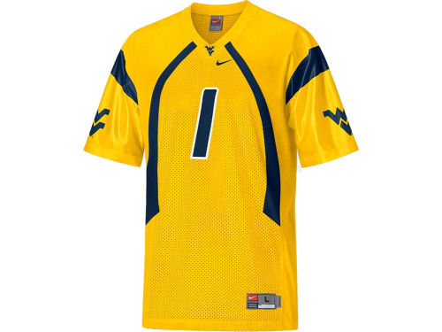 West Virginia Mountaineers #1 Nike NCAA Replica Football Jersey