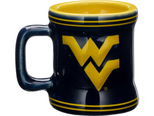 West Virginia Mountaineers Boelter Brands 2oz Mini Mug Shot