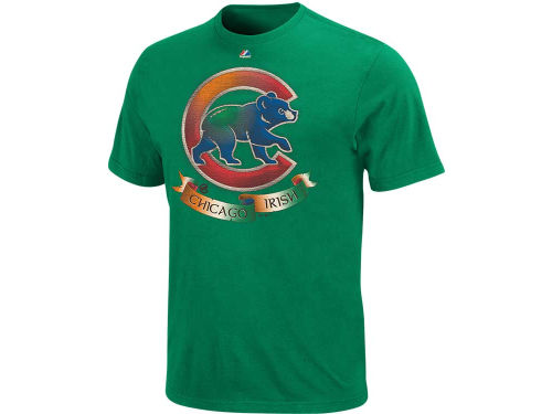 Chicago Cubs Majestic MLB Shamrock Fields T-Shirt